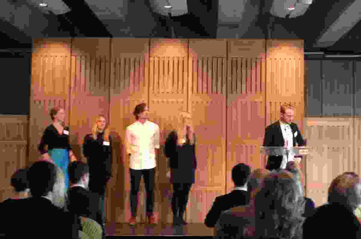The 2014 Danish cohort (L—R): Caroline Richardt Beck, Karina Korsgaard Jensen, Jonas Snedevind Nielsen, Pernille Krieger and Jakob Franijeur Holmqvist-Larsen.
