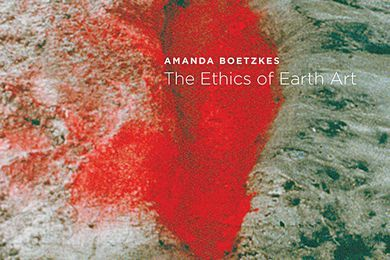 A detail from the cover of The Ethics of Earth Art.