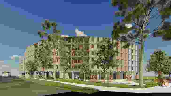 La Trobe University student accomodation by Jackson Clements Burrows Architects.