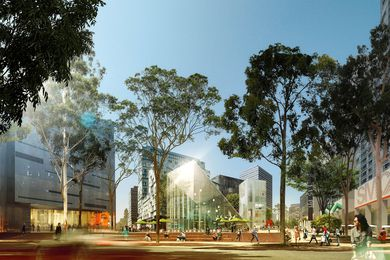 Proposed Green Square Plaza by Stewart Hollenstein and Colin Stewart Architects.