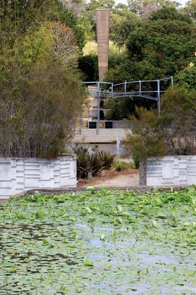 The Obelisk stands proud above the cloud arbour and water garden.