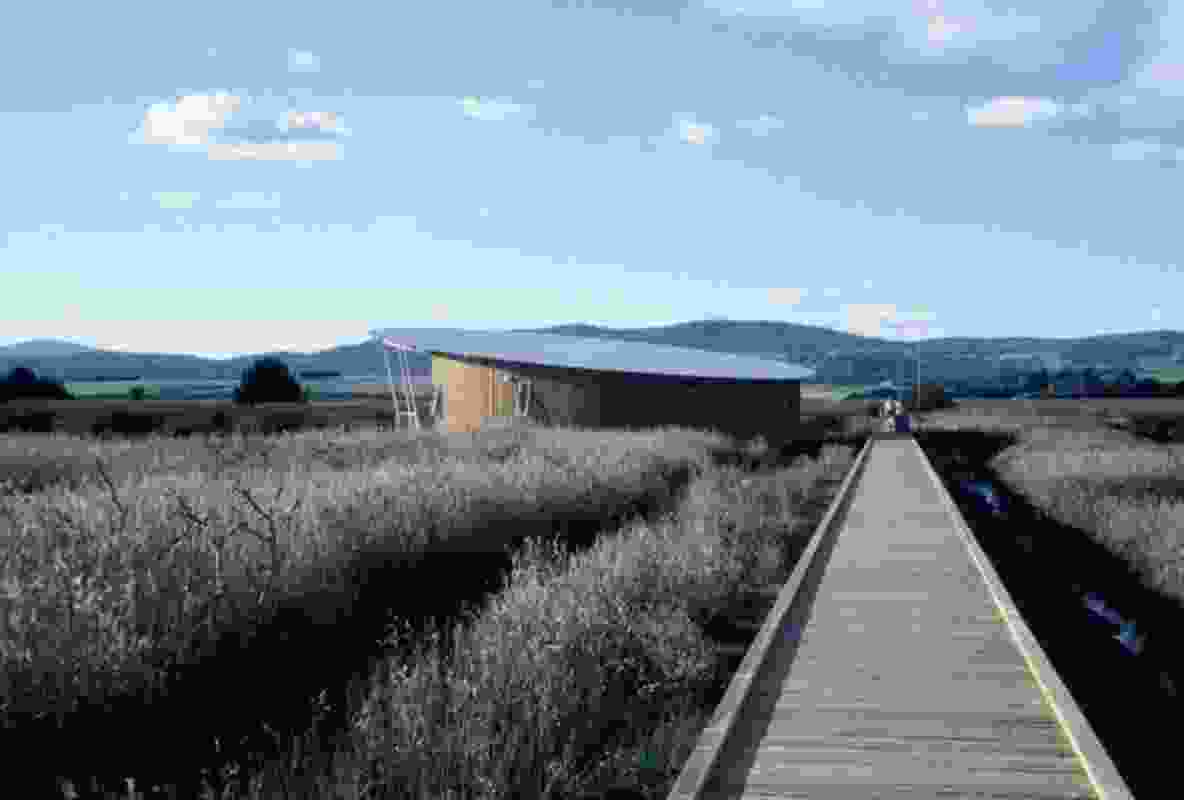 Tamar Island Wetlands Centre by HBV Architects.