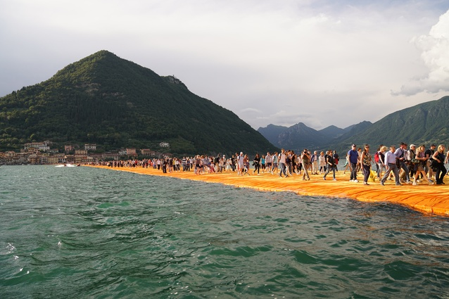 The Floating Piers by Christo and Jeanne-Claude, Lake Iseo, Italy, 2014-16.