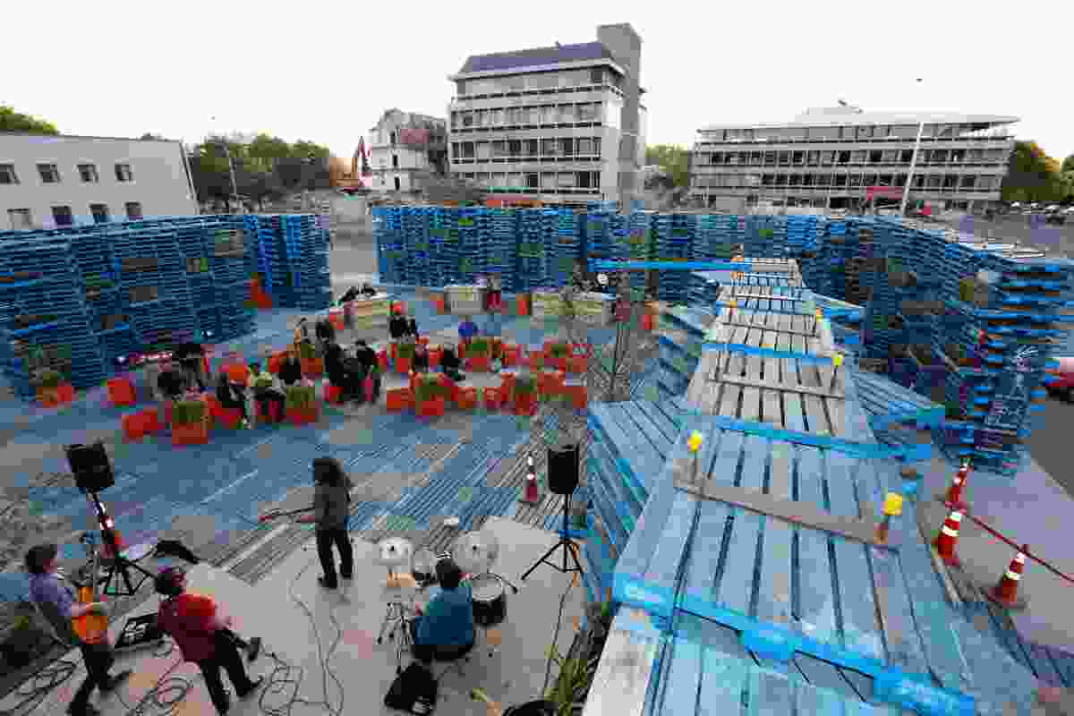 Pallet Pavilion offered a temporary venue for music and cultural events.