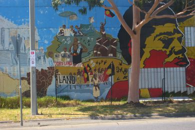 Northcote Koori Mural, St Georges Road, Thornbury.