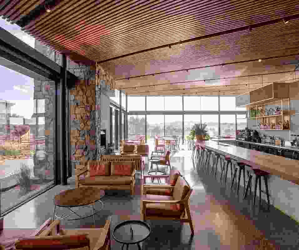 Glasshouse at Goonoo Goonoo Station and Tanner Kibble Denton Architects.