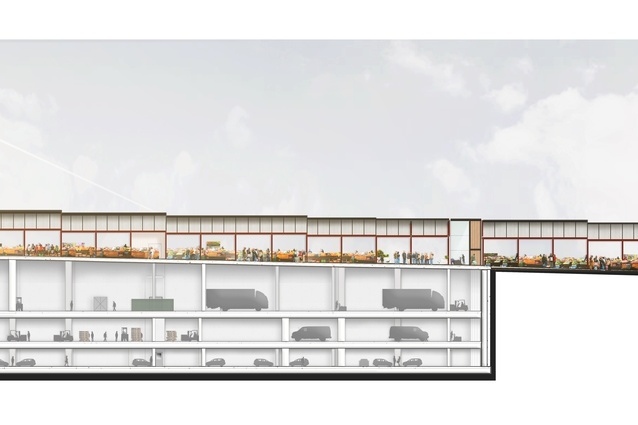 A section of the Queen Victoria Market Quarter 2 redevelopment by Grimshaw Architects.