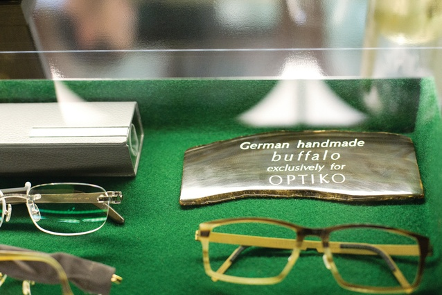 The detail and craftsmanship that goes into creating the glasses has been translated into the design of the store.
