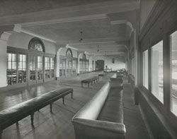 Images from the Stephenson & Turner Archive, which forms the basis for the exhibition.Long Room, Melbourne Cricket Club, Melbourne Cricket Ground, 1927, by Stephenson & Meldrum. Gelatin silver photograph by Commercial Photographic.