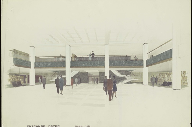Foyer Architecture Library : Walter bunning s national library of australia marks