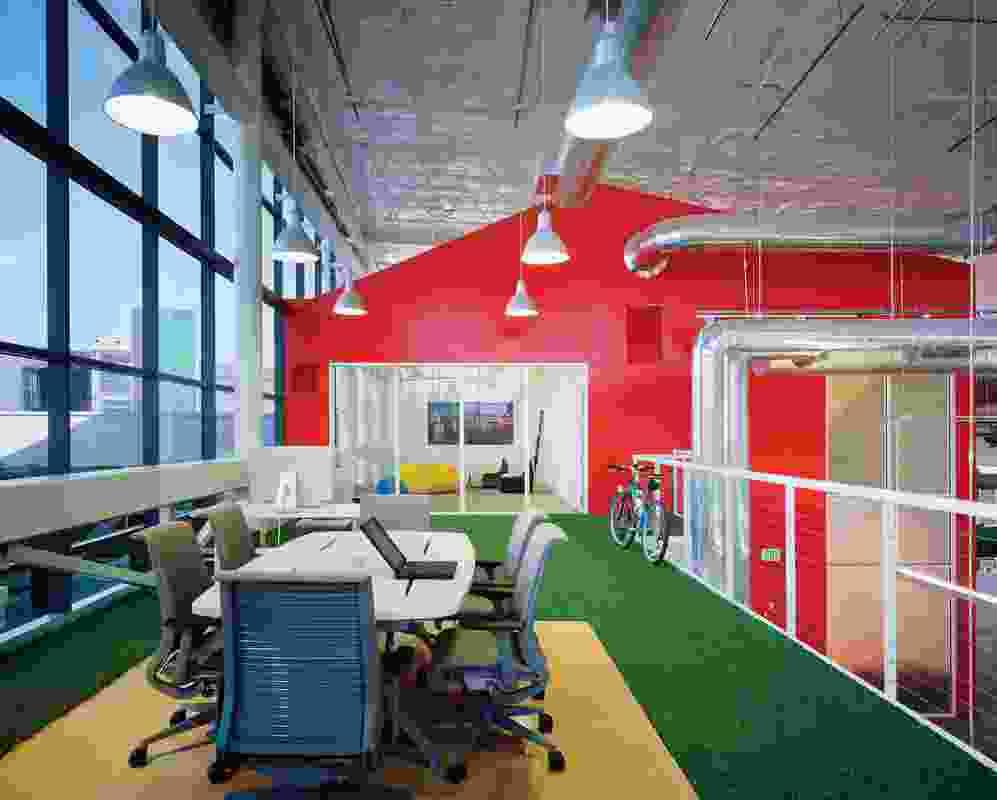 Googleplex by Clive Wilkinson Architects.