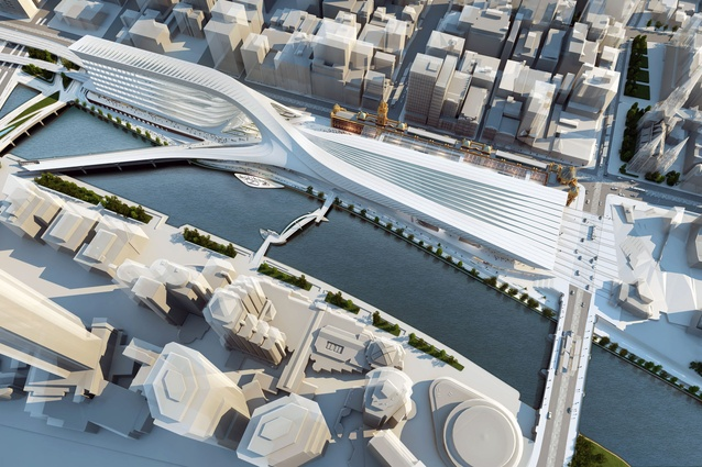 Zaha Hadid Architecture + BVN Donovan Hill: Birdseye view from south-east.