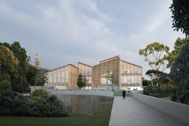 Proposal for Adelaide Contemporary by David Chipperfield Architects and SJB Architects.