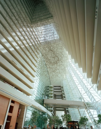 Under the atrium at Marina Bay Sands Hotel.