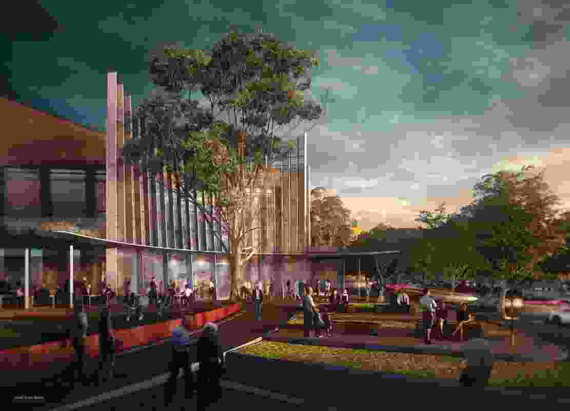 Proposal for the refurbishment of the Sutherland Entertainment Centre by Cox Architecture.