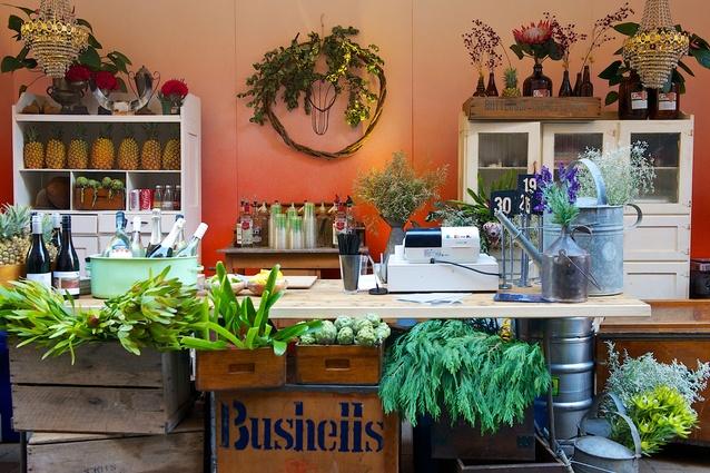 Gumtree Garden Pop-Up Bar by Studio Yellowtrace