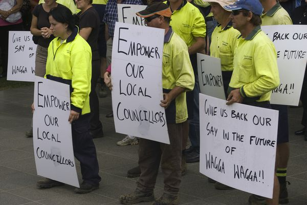Planning protest in Wagga Wagga, NSW.