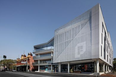 Gray Puksand's five-storey design for Prahran High School accommodates 650 students on a relatively small site.