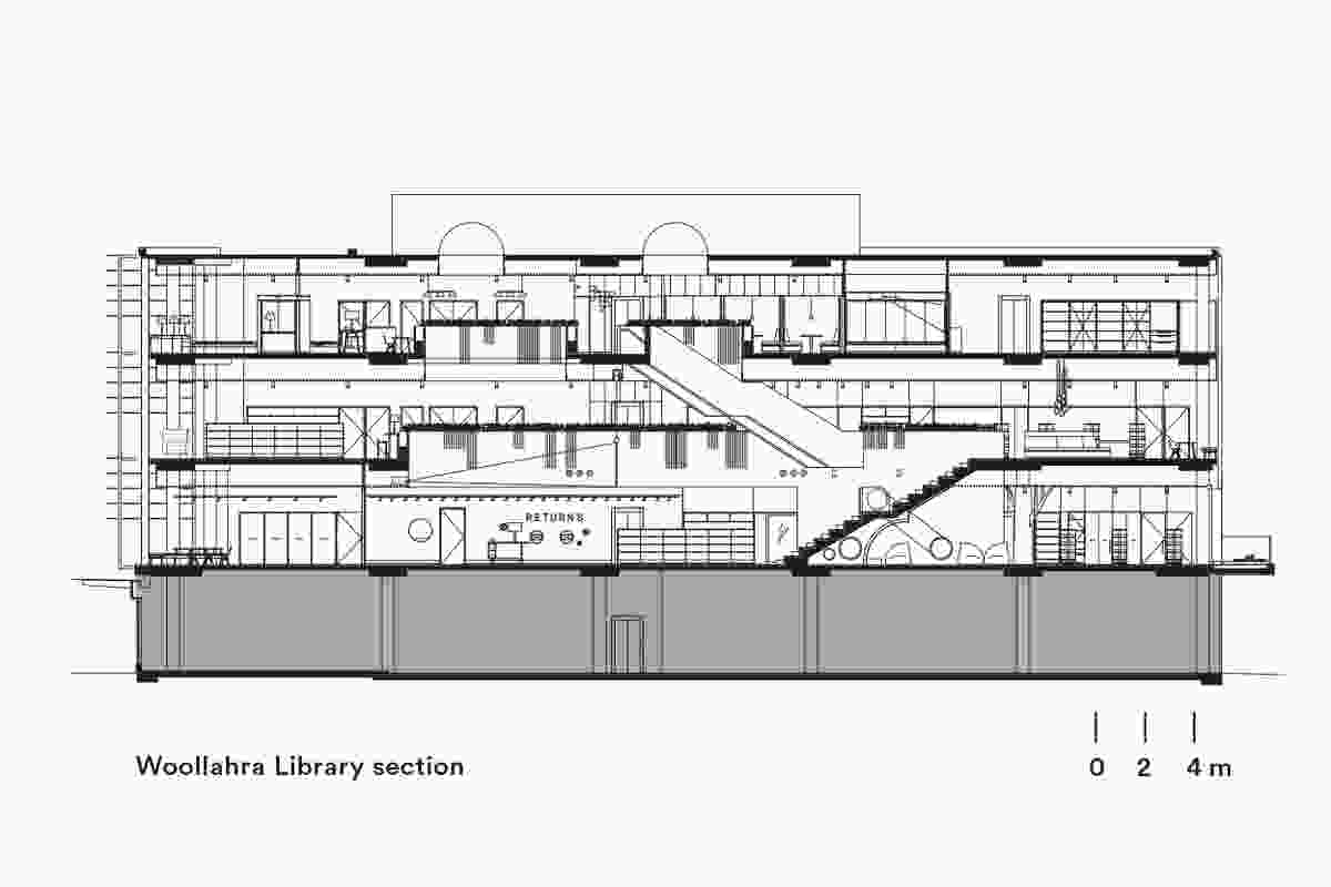 Section of Woollahra Library by BVN.
