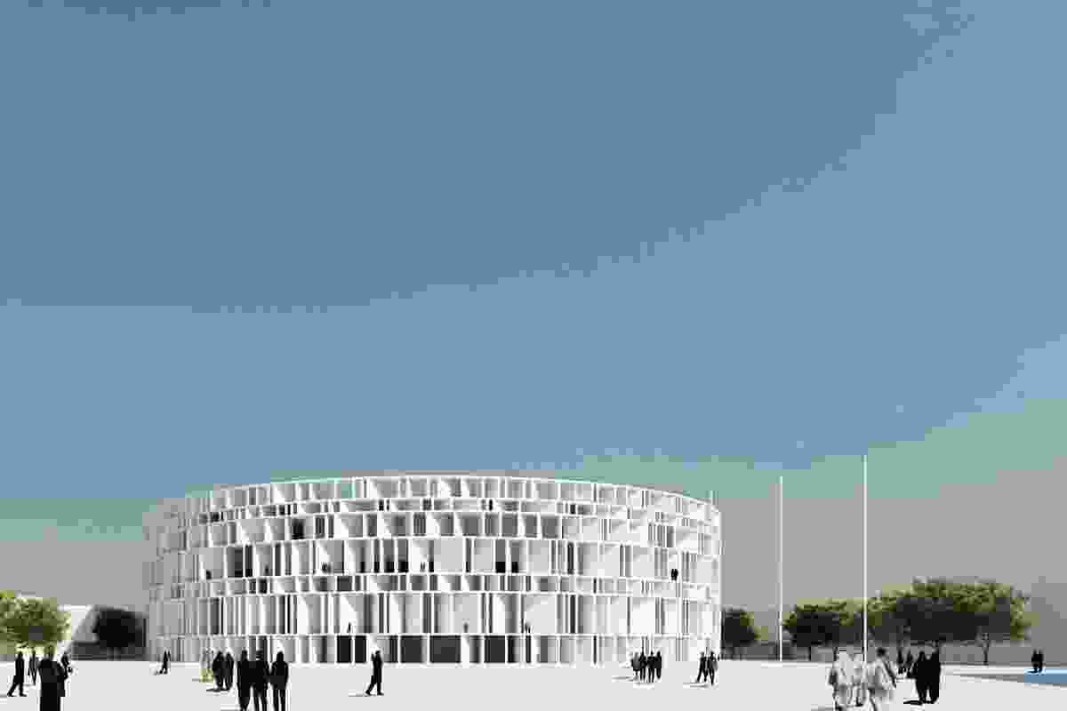 Assemblage's winning scheme for the Iraqi parliament complex in Baghdad.