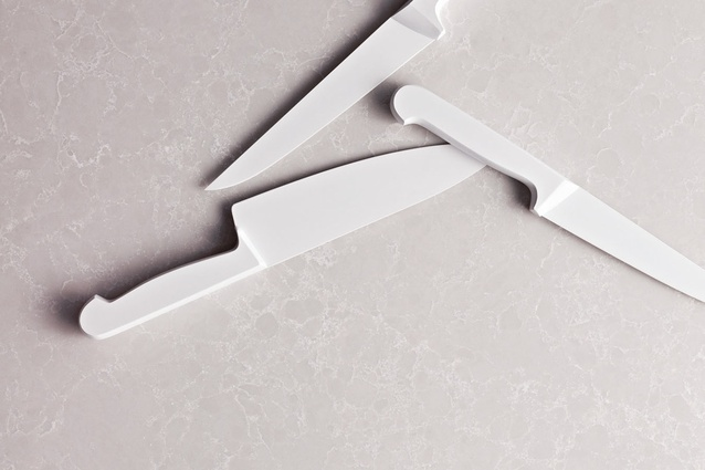Alpine Mist – white cool grey background with delicate natural crisp white veins.
