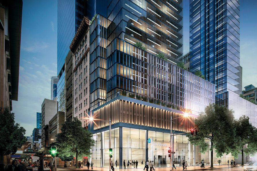 Proposed Sydney Metro station at Pitt Street to be designed by Foster and Partners and Architectus.