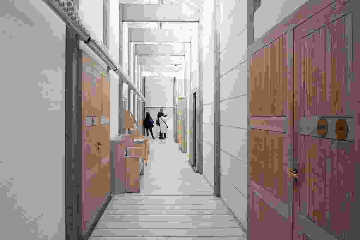 Glass ceilings light the corridors.