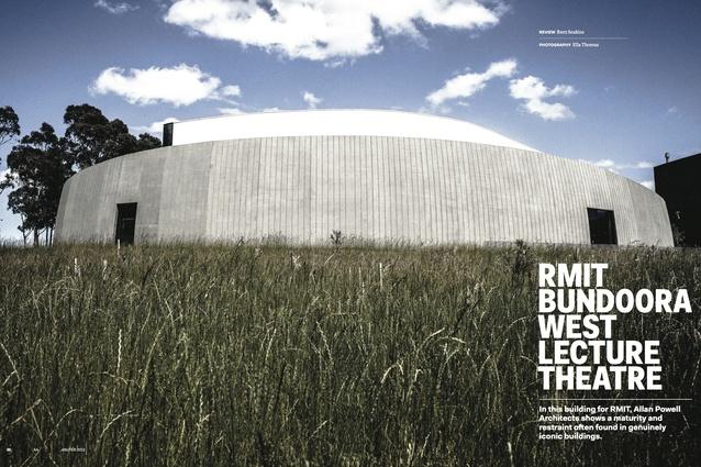 RMIT Bundoora West Lecture Theatre by Allan Powell Architects.