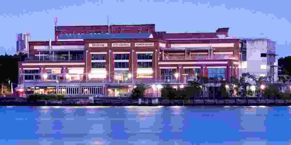 The Brisbane Powerhouse, repurposed to a design by Brisbane City Council's City Design, Cox Rayner and Allom Lovell in 2000.
