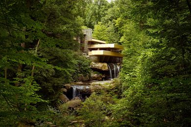 Fallingwater by Frank Lloyd Wright.