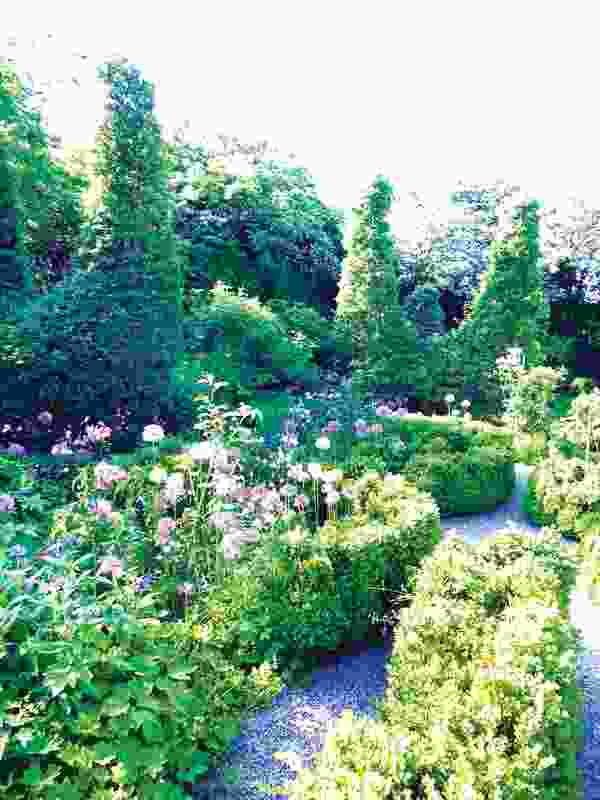 """The """"henyard"""" in Swedish landscape architect Sven Ingvar Andersson's garden laboratory, Marnas, in Sweden in 2010."""