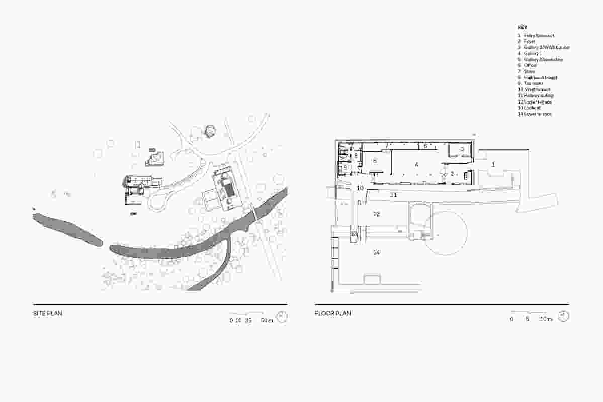 Site plan and floor plan of The Condensery: Somerset Regional Art Gallery.