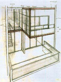 Drawings by Ben Hewett and Peter Poulet, developing the ideas initiated by Penn.