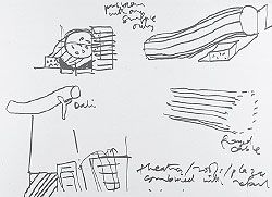 Sketches showing the