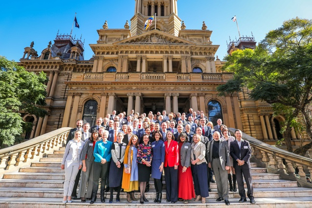 Sydney's mayor Clover Moore launched <I>Resilient Sydney</I> on 24 July.