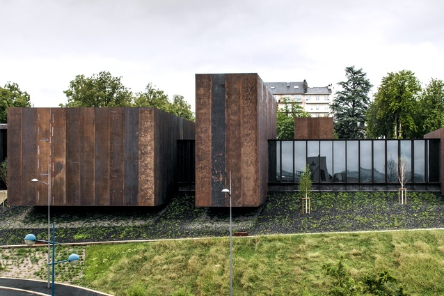 Soulages Museum in Rodez, France by RCR Arquitectes in collaboration with G. Trégouët (2014).