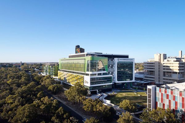 Perth Children's Hospital by JCY Architects and Urban Designers, Cox Architecture and Billard Leece Partnership with HKS Inc, a major winner in 2019.