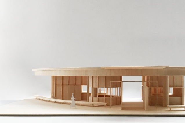 Model of the proposed food hall by Anthony Gill Architects.