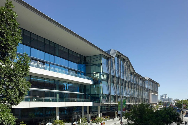 Brisbane Convention and Exhibition Centre on Grey Street by Cox Rayner.