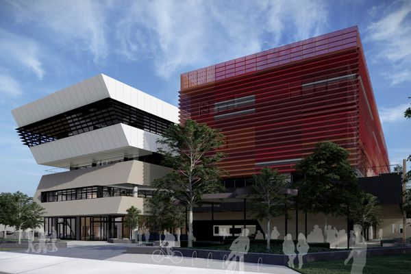Fishermans Bend Secondary School by Billard Leece Partnership.
