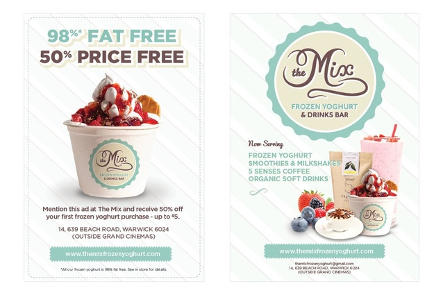 The Mix Frozen Yoghurt & Drinks Bar by Red Meets Blue.