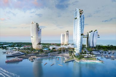 The proposal for the Gold Coast Integrated Resort consists of five towers.