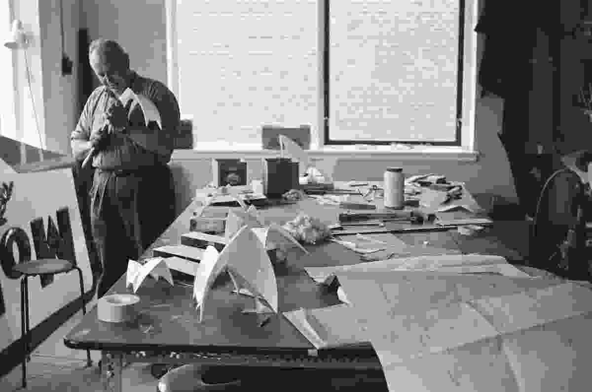 A model of the Sydney Opera House being made.