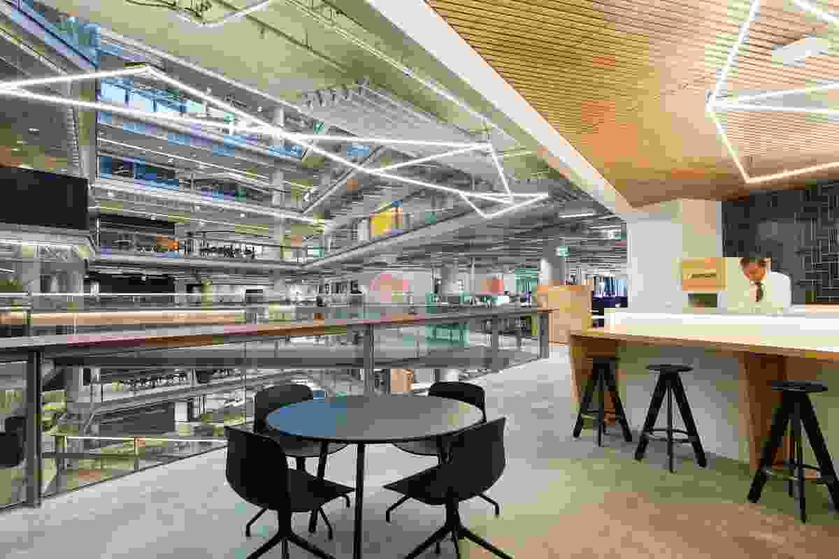 NAB's 700 Bourke Street office in Melbourne's Docklands by Woods Bagot.