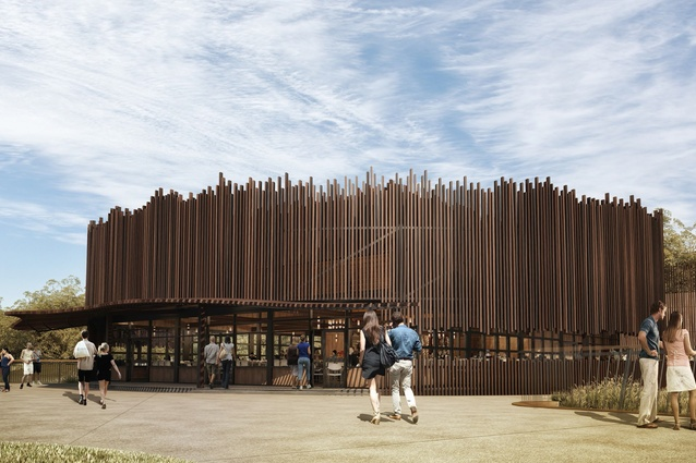 "The ""boma"" restaurant of the proposed Sydney Zoo designed by Misho and Associates."
