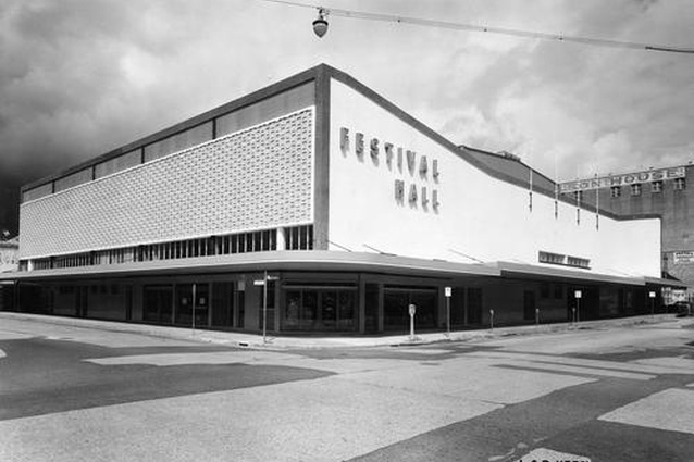 Brisbane Festival Hall in 1959, designed by Crick, Lewis and Williams.