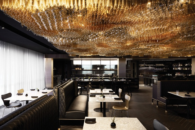 "The restaurant, playfully named Doot Doot Doot, features a ""bubbling golden ceiling"" made from 10,000 Edison globes."