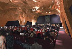DRAW's winning concept design for the Great Hall at UTS.