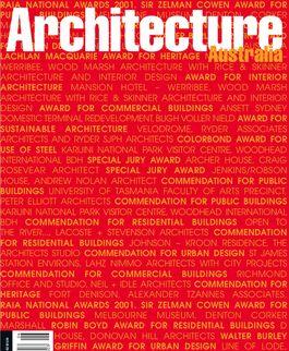 Architecture Australia, November 2001