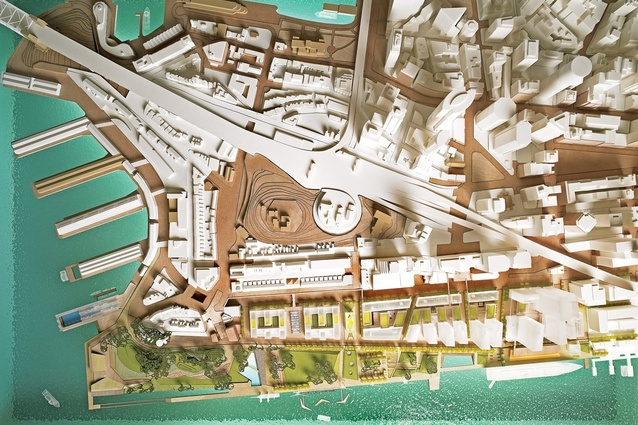 The original competition-winning scheme by Hill Thalis Architecture + Urban Projects, Paul Berkemeier Architects and Jane Irwin Landscape Architecture.